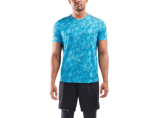 2XU GHST SS Shirt Men, matrix aqua/black reflective